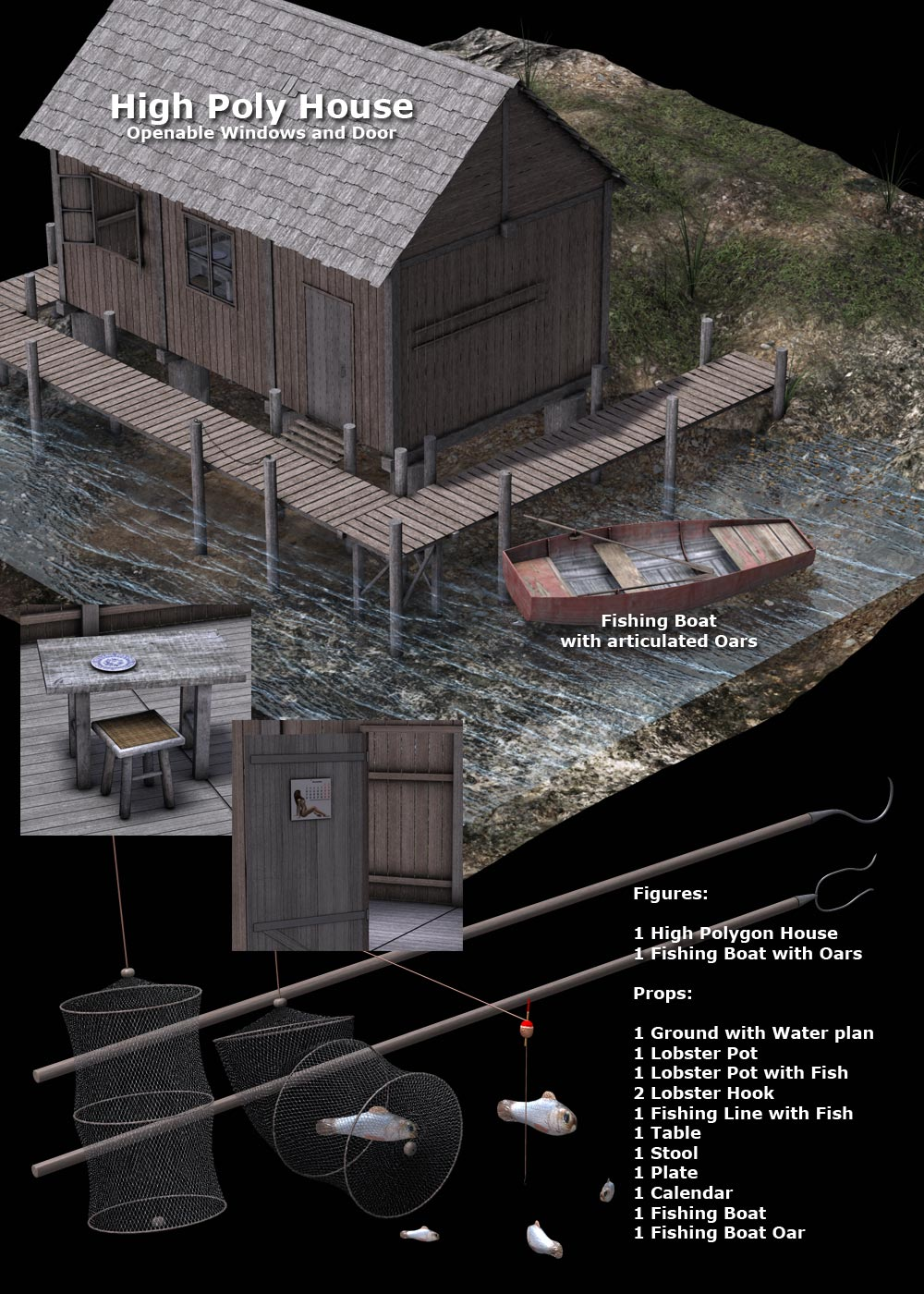 Fishing house eart3d for Aaa fish house
