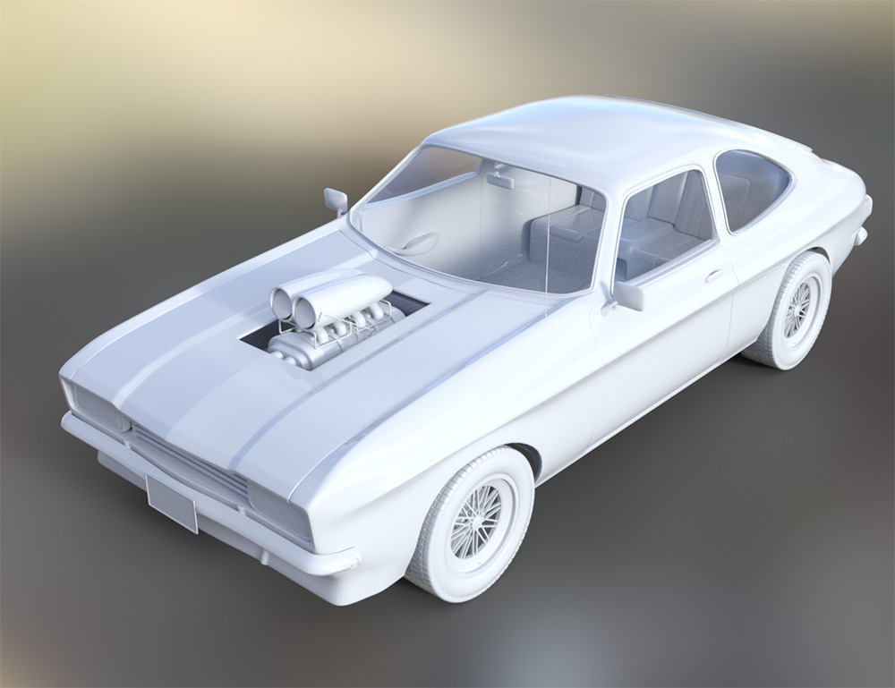WiP: Muscle Car, two versions – eArt3D