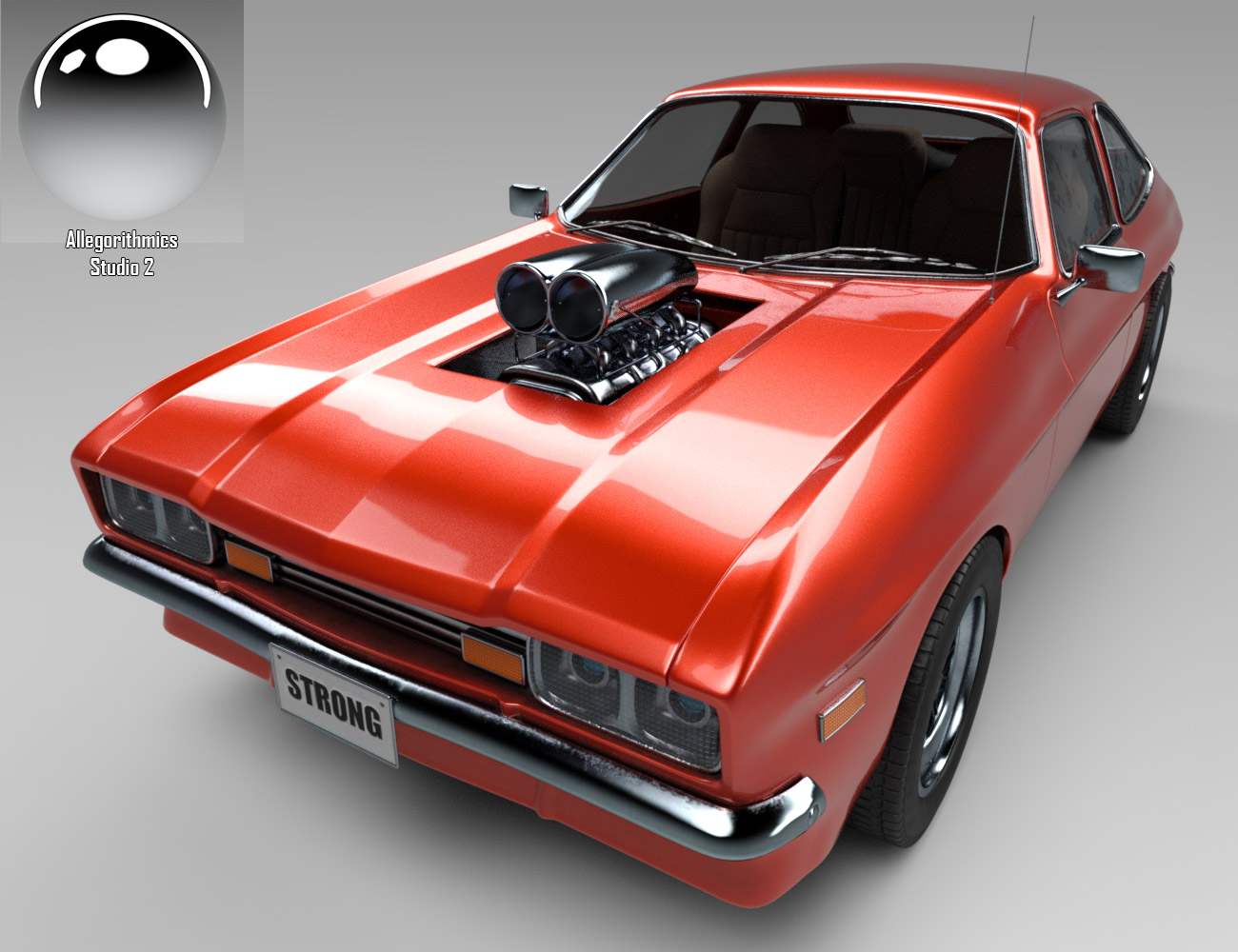 Wip Muscle Car New Car Paint Eart3d