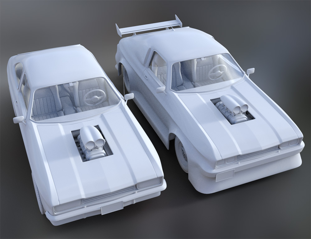 WiP: Muscle Car, two versions