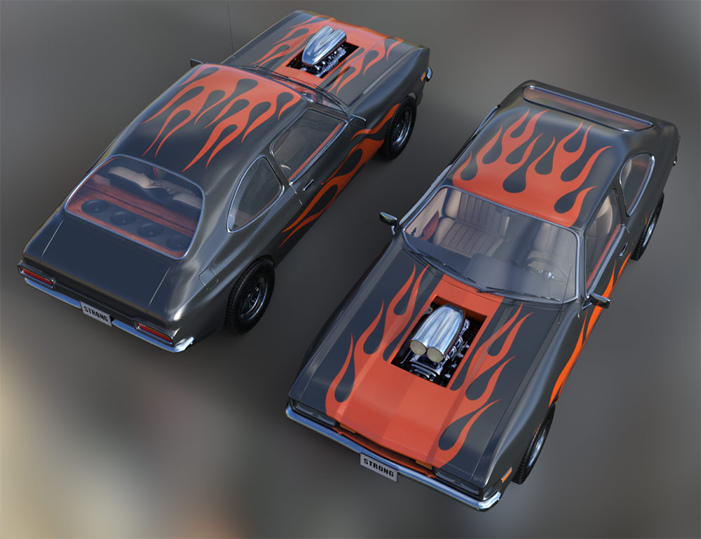WiP: Muscle Car, final texture