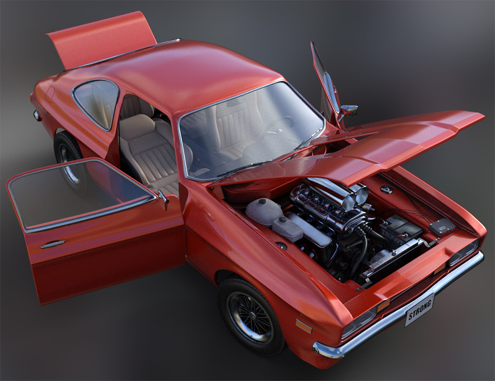 WiP: Muscle Car, rigging and interior