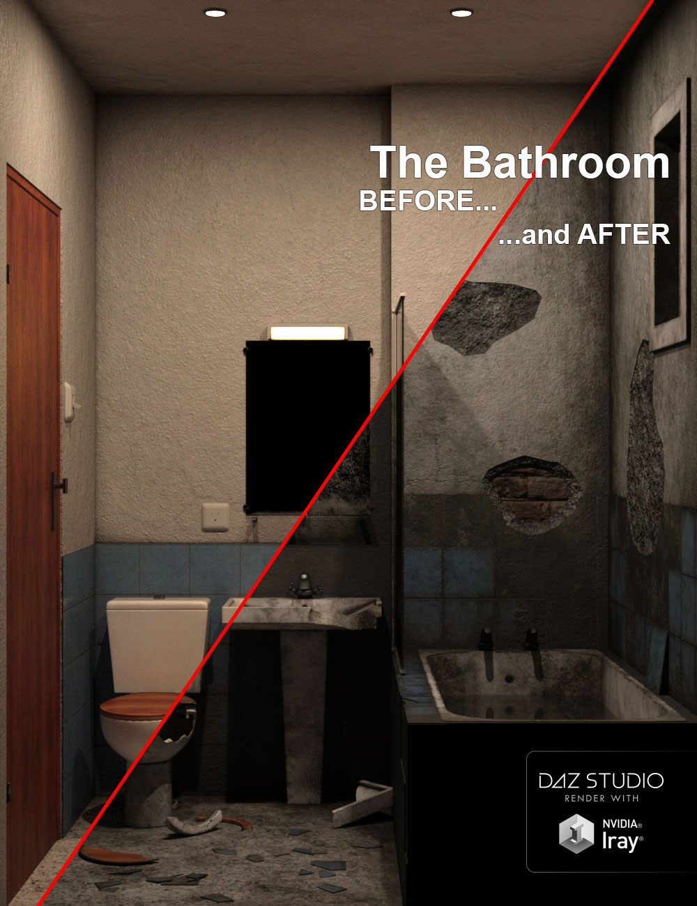 The Bathroom, BEFORE and AFTER…